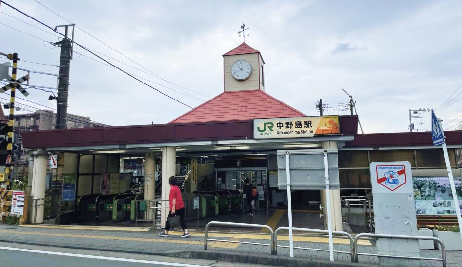 ノスタルジックな中野島駅の駅舎